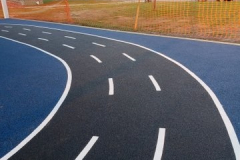 Track _ Solid Black_Solid Blue_ White Line Paint